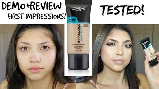 NEW L'OREAL INFALLIBLE PRO GLOW FOUNDATION | Review, Demo, First impressions