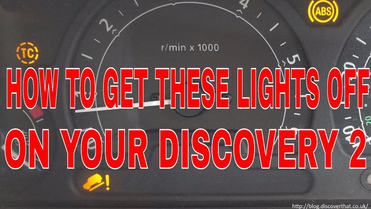 How To Fix Your Discovery 2 Abs Traction Control And Hill Descent Land Rover Wiring Diagram Lights