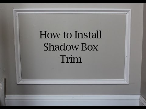 Picture Frame Moulding Below Chair Rail Lean Back How To Install Square And Angled Shadow Box Trim On Walls Youtube