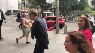 Bill gates goes to dinner in Sydney