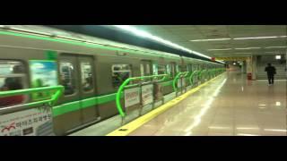 釜山交通公社2000系更新車2001F発車
