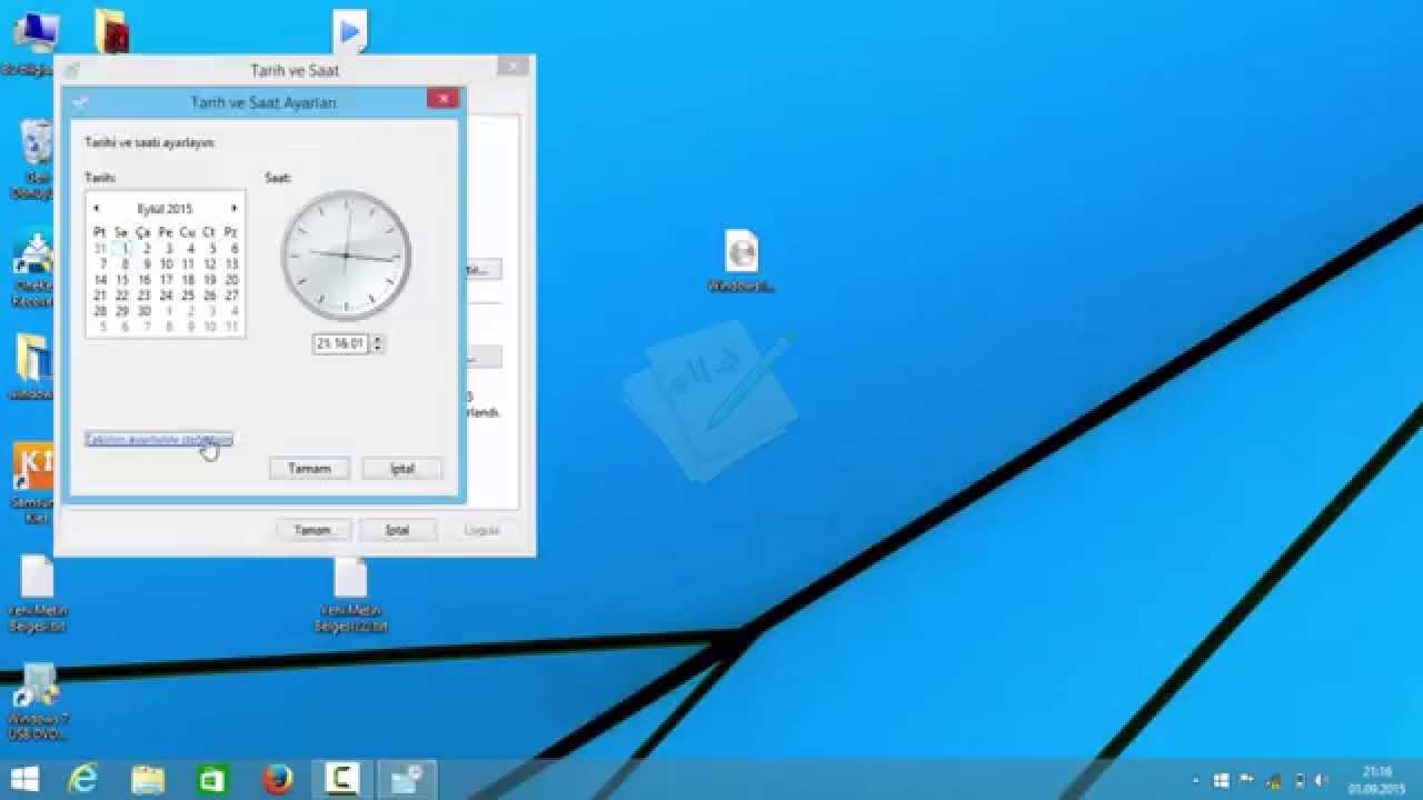 Windows Hicri Takvim Ayarları Youtube