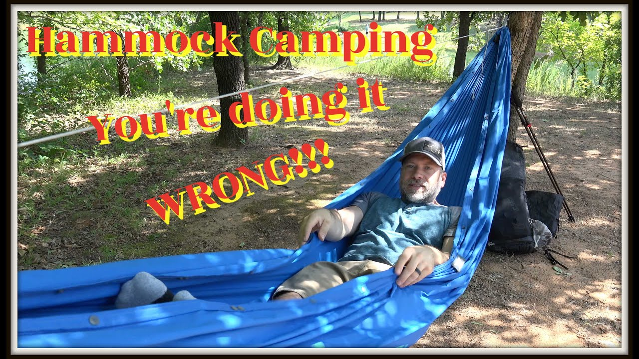 Hammock Camping // You're doing it WRONG!