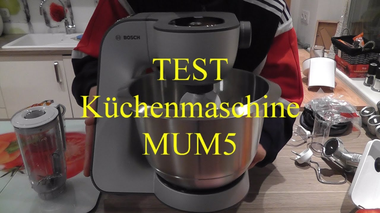 Test Küchenmaschine mum5 - YouTube