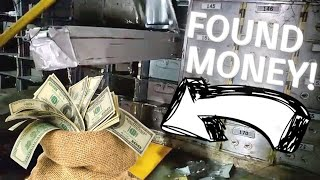 FOUND MONEY IN ABANDONED BANK!!! ***SAFE WAS UNLOCKED AND WIDE OPEN***