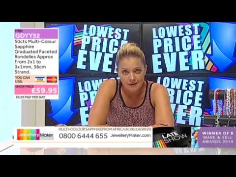 Green Opal, Emerald & Green Amethyst Small Nuggets on The Late Show (JewelleryMaker) LIVE 02/07/2015