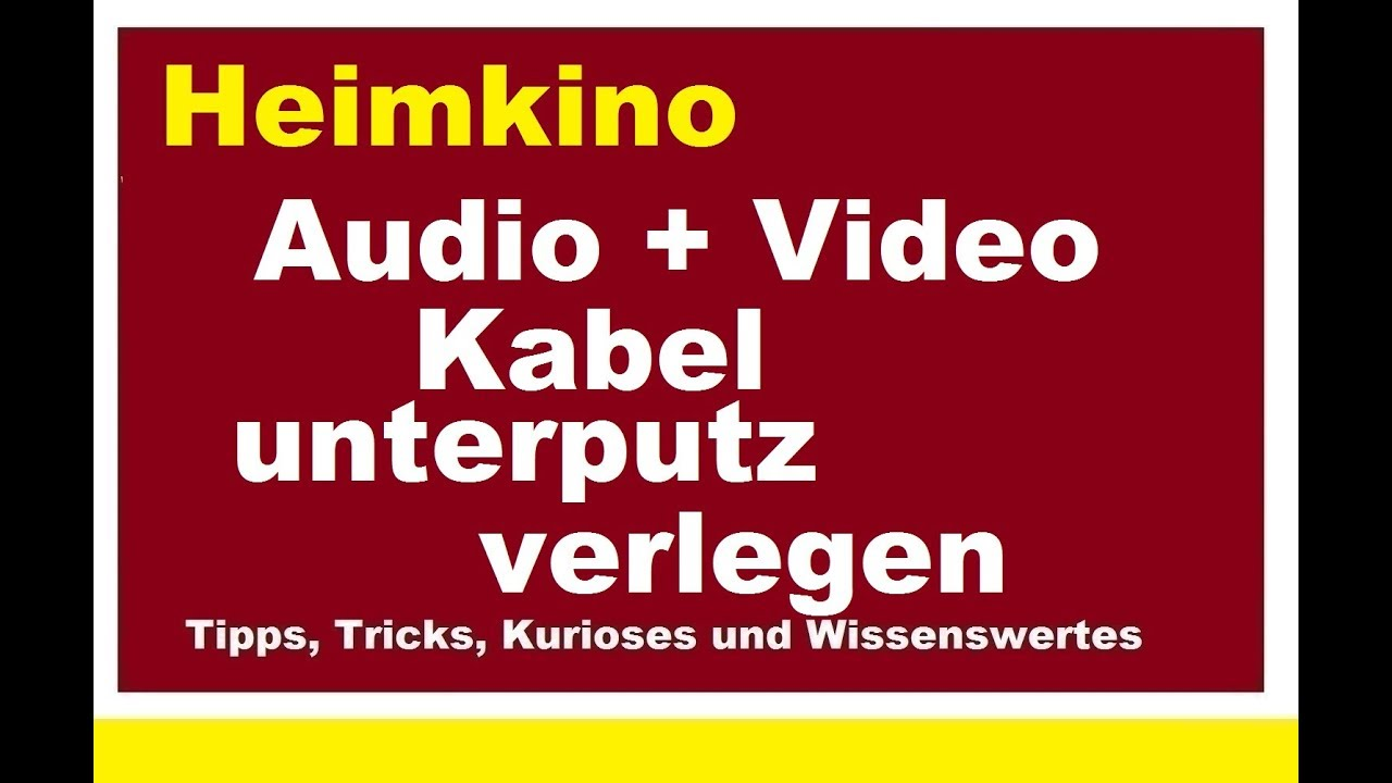 kabelkanal unterputz verlegen audio video kabel verstecken heimkino leerrohr hdmi lan youtube. Black Bedroom Furniture Sets. Home Design Ideas