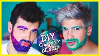 GALAXY GLITTER BEARD DIY!