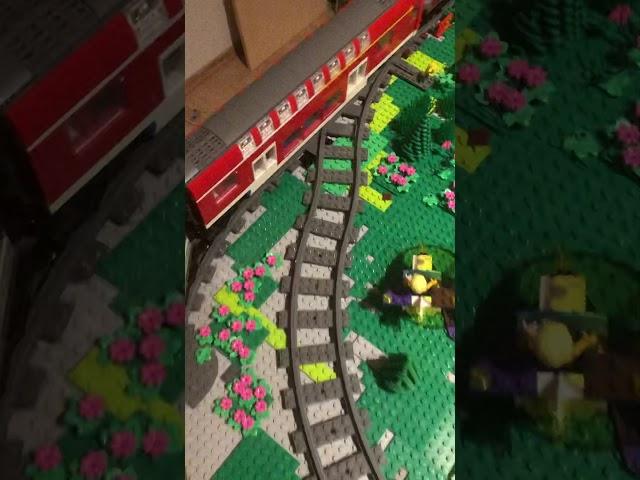 Eisenbahn fahrt durch Holsteinsity