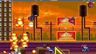 Gunstar Heroes Sega Genesis 2 player 60fps