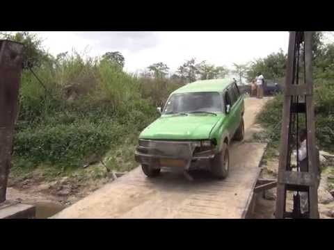 Overland by local transport to southern Gabon