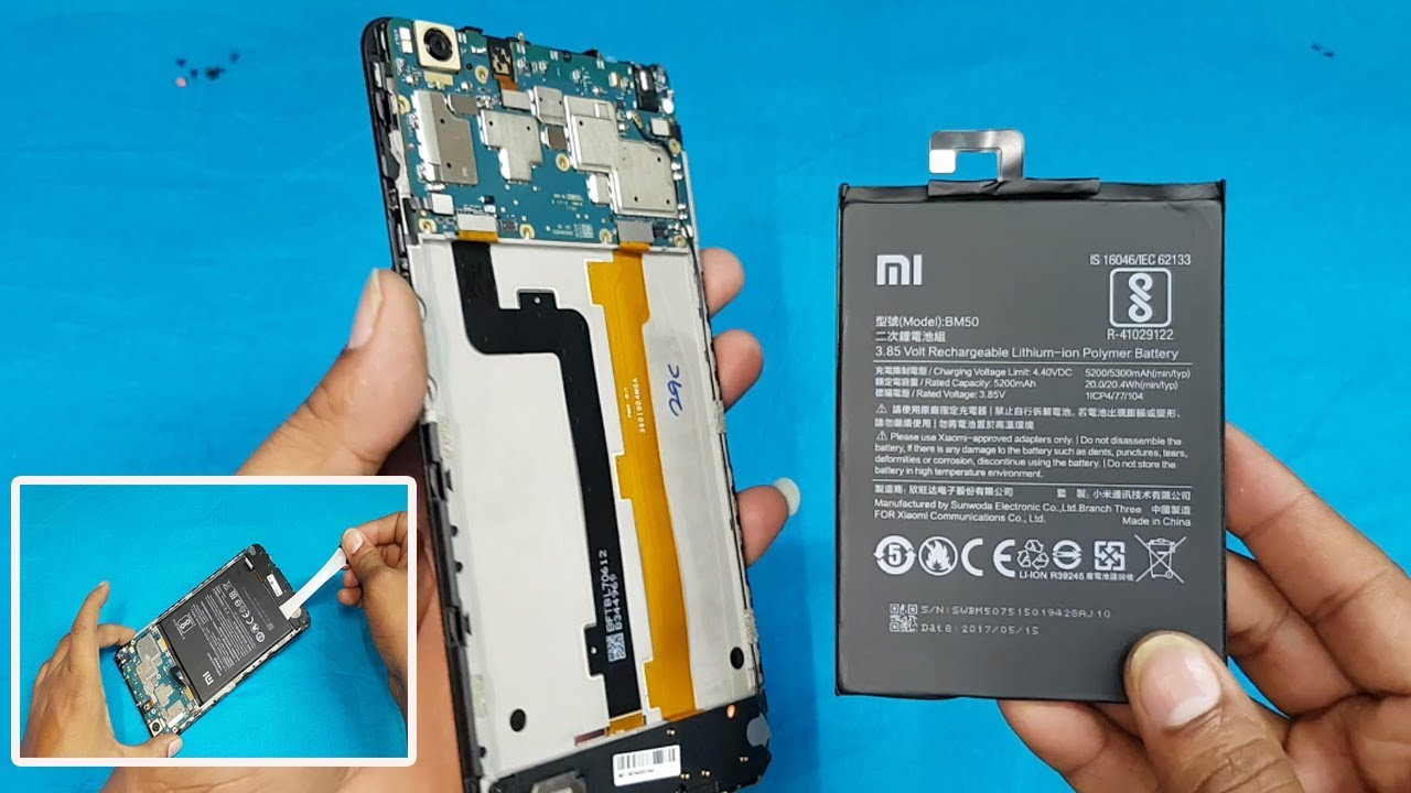 3ed7ed2cdb Xiaomi Mi Max 2 Battery Replacement || How to Remove Mi Max 2 Back Panel  and Battery