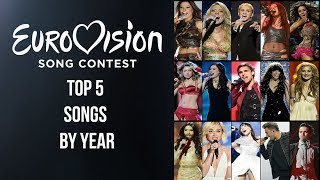 My Top 5 Eurovision Songs By Year (2004 - 2018)