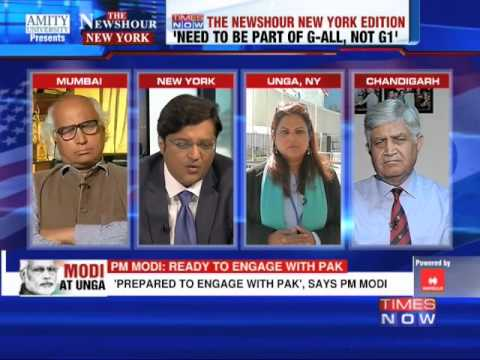 The Newshour Debate from New York: The Narendra Modi at UN analysis - Part 1 (27th September 2014)