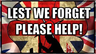 Lest We forget, Poppy appeal in trouble, Please help!