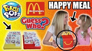 McDonald's Happy Meal Guess Who Game! Pikmi Pops EDITION!!! Mom vs Daughter, WHO WON!?