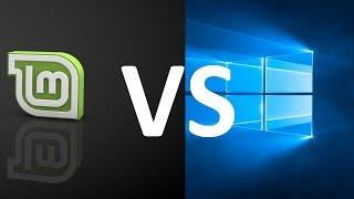 Сравнение Windows 10 и Linux mint 19