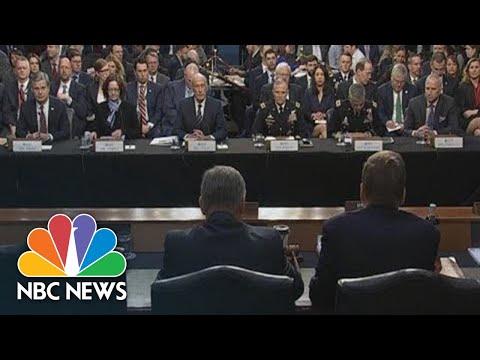 Watch Live: FBI, CIA Directors Testify On 'Worldwide Threats' | NBC News