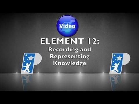Element 12 Recording and Representing Knowledge - YouTube