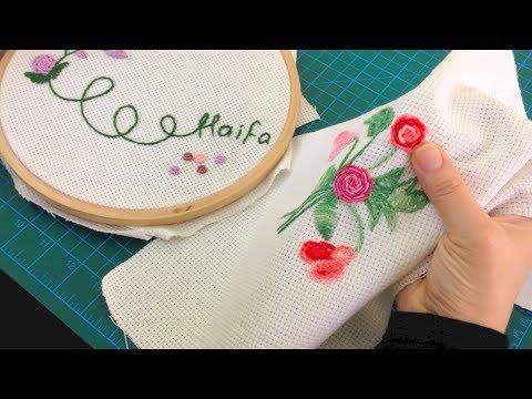غرزة الركوكو - تطريز Bullion knot - Rococo embroidery