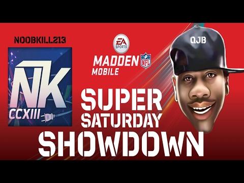 SUPER BOWL SHOWDOWN VS QJB!! Madden Mobile 17