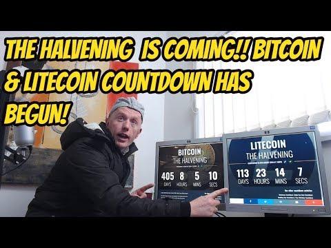 The Halvening Is Coming!! Bitcoin & Litecoin Halving Countdown Has Begun