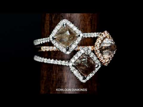 NATURAL COLOR ROUGH DIAMOND RINGS - Kowloon Diamonds|九龍鑽石行