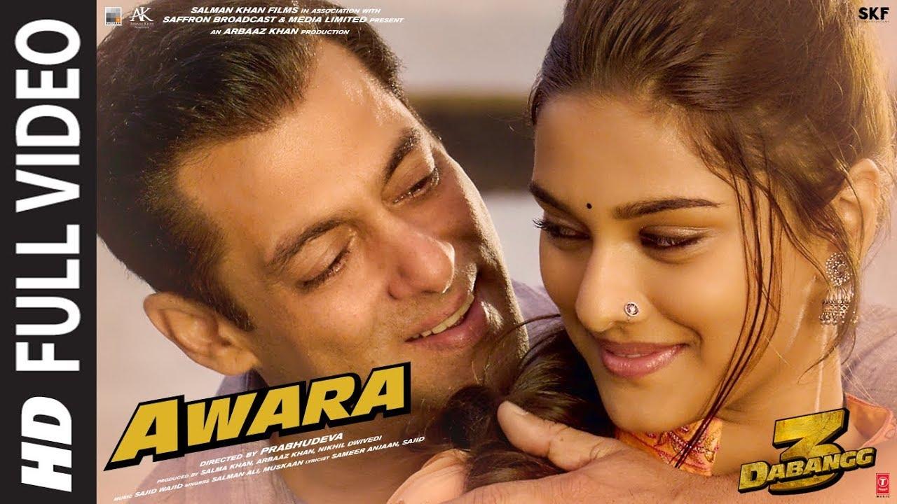 Download Full Video: Awara   Dabangg 3   Salman Khan,Sonakshi S,Saiee M   Salman Ali, Muskaan   Sajid Wajid