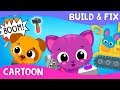 Little Pet Helpers: Build & Fix! Cute & Tiny Construction Cars Cartoon | Mobile Games for Toddlers