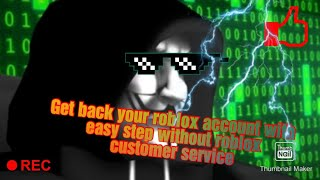 Get back your account without roblox contact or costume service in roblox