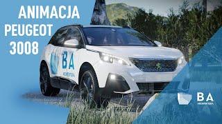 New Peugeot 3008- car test animation | animacja architektoniczna 3D | BA ARCHITEKTURA | 3D animation