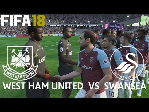 FIFA 18 (PS4 Pro) West Ham v Swansea City PREMIER LEAGUE 30/09/2017 PREDICTION SIM 1080P 60FPS