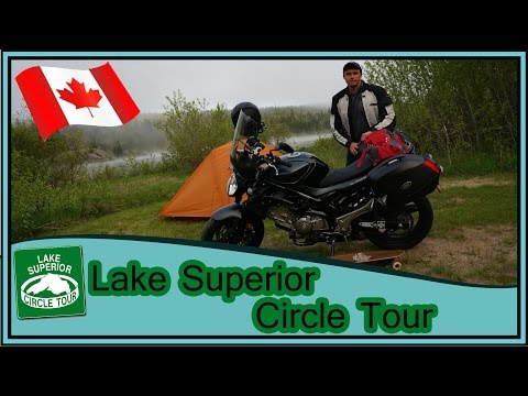 Lake Superior Circle Tour Solo Motorcycle Camping