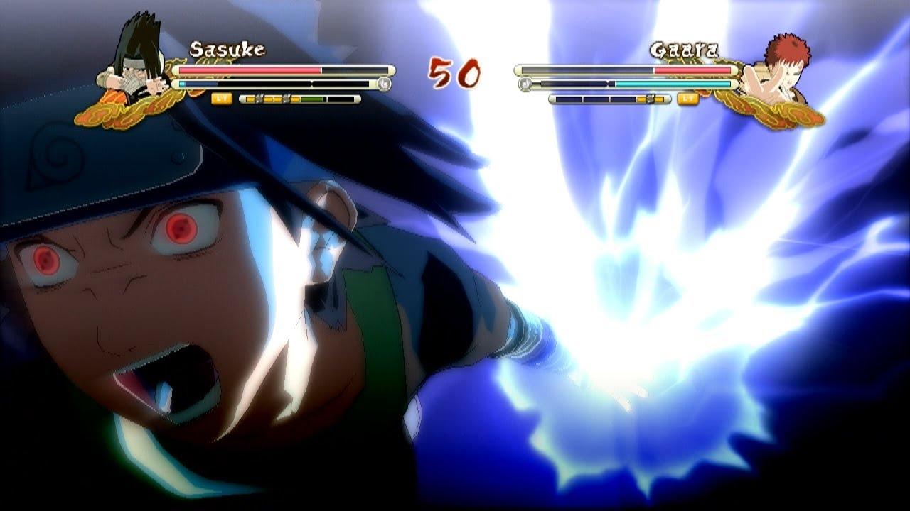 XBOX 360 Chuunin Exam Sasuke Vs PTS Gaara Naruto