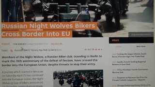 "Night Wolves Alexander Zaldostanov ""The Surgeon"" wears Octogon Nazi symbol & rides Harley Davidson"
