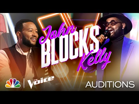 """John Holiday's Surprising Voice Is Perfect for Ella Fitzgerald's """"Misty"""" - The Voice Blind Auditions"""