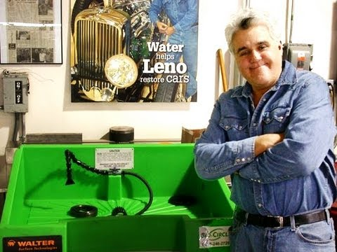 Jay Leno tries out the Walter Bio-Circle Parts Washer