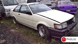 A bunch of abandoned AE86s - Corolla Levin Sprinter Trueno Hachiroku