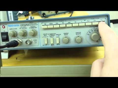 How To Use Function Generator (Tektronix CFG253)