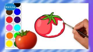 🌈 Glitter Vegetable Tomato sauce bottle coloring drawing Kids Toddlersวาดรูปสำหรับอนุบาล[คิดดีใจดี]