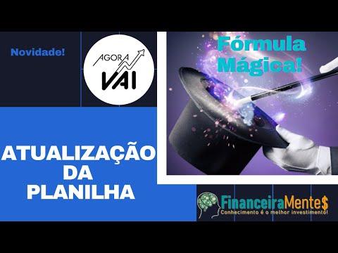 Atualização da fonte de informação da Planilha da Fórmula Mágica