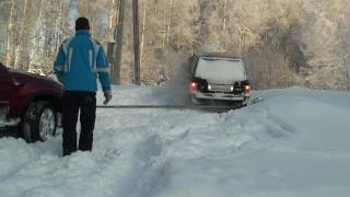 bmw X6, Range Rover and Landcruiser in snow part 3