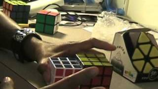 mini alpha v and qj tiled pyraminx unboxing