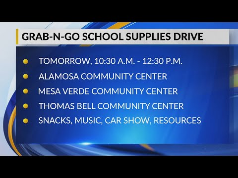 City Of Albuquerque Hosts Grab-and-go School Supply Drive