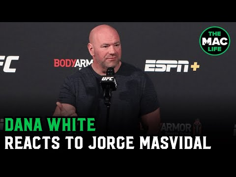 """Dana White responds to Jorge Masvidal's demand for more money: """"We're not begging people to fight"""""""