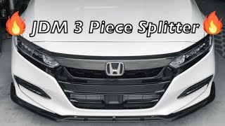 2018 Honda Accord - JDM Front Lip Install 10th Gen 2.0T Sport