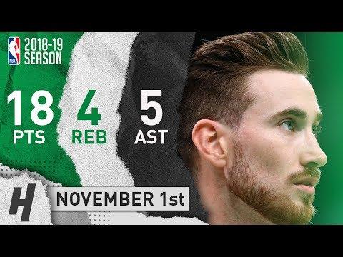 Gordon Hayward Full Highlights Celtics vs Bucks 2018.11.01 - 18 Pts, 5 Ast, 4 Rebounds!