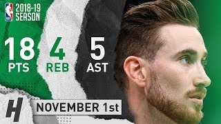 Gordon Hayward Full Highlights Celtics vs Bucks 2018.11.01 - 18 Pts, 5 Ast, 4 Rebounds!