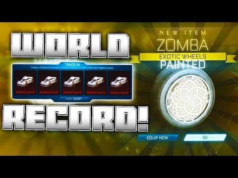 So I broke the Rocket League White Zomba World Record... thumbnail