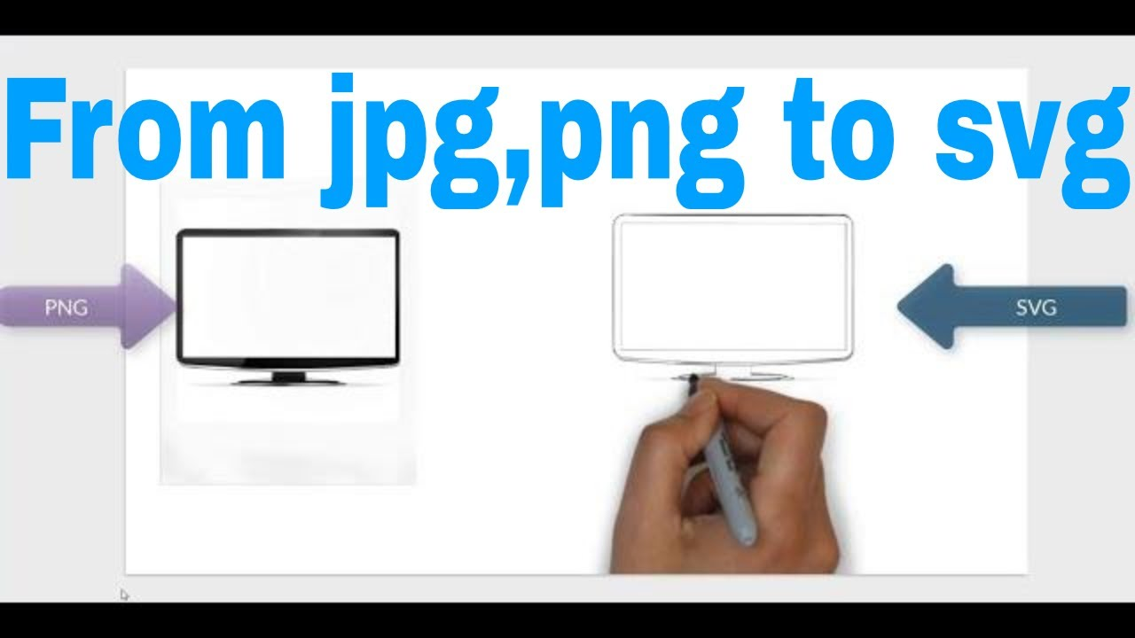 How To Convert A Png And Jpg To Svg For Videoscribe Youtube